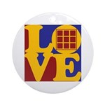 Quilts Love Ornament (Round)