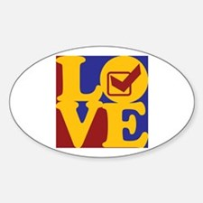 Quality Assurance Engineering Love Oval Decal