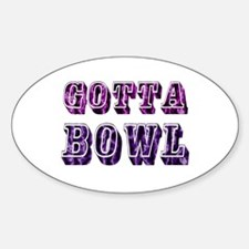 Womens Bowling Oval Decal
