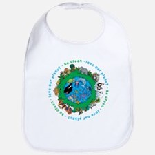 Be Green Love our planet Bib