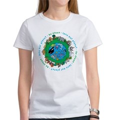 Be Green Love our planet Women's T-Shirt