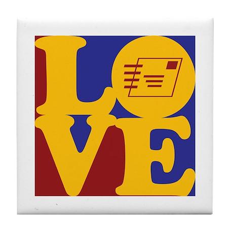 Postal Service Love Tile Coaster