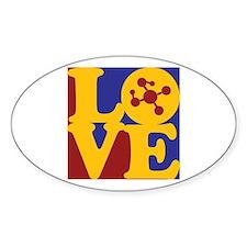 Polymer Chemistry Love Oval Sticker (50 pk)