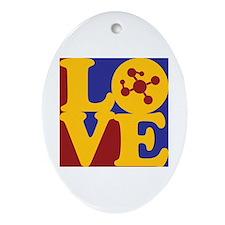 Polymer Chemistry Love Oval Ornament