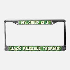 My Kid Jack Russell Terrier License Plate Frame