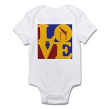 Pole Vaulting Love Infant Bodysuit