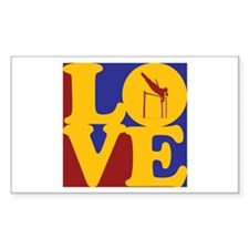 Pole Vaulting Love Rectangle Decal