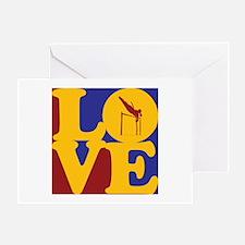 Pole Vaulting Love Greeting Card