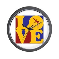 Pole Vaulting Love Wall Clock