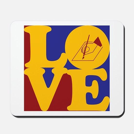 Poetry Love Mousepad