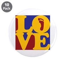 "Podiatry Love 3.5"" Button (10 pack)"