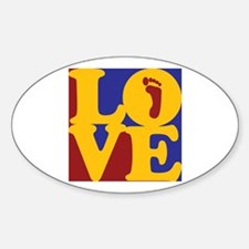 Podiatry Love Oval Decal