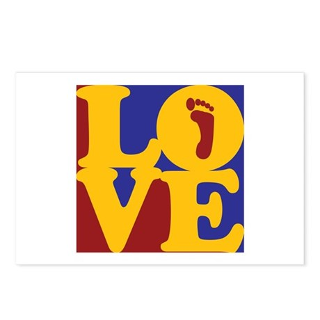 Podiatry Love Postcards (Package of 8)