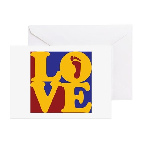 Podiatry Love Greeting Cards (Pk of 10)