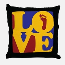 Podiatry Love Throw Pillow