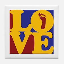 Podiatry Love Tile Coaster