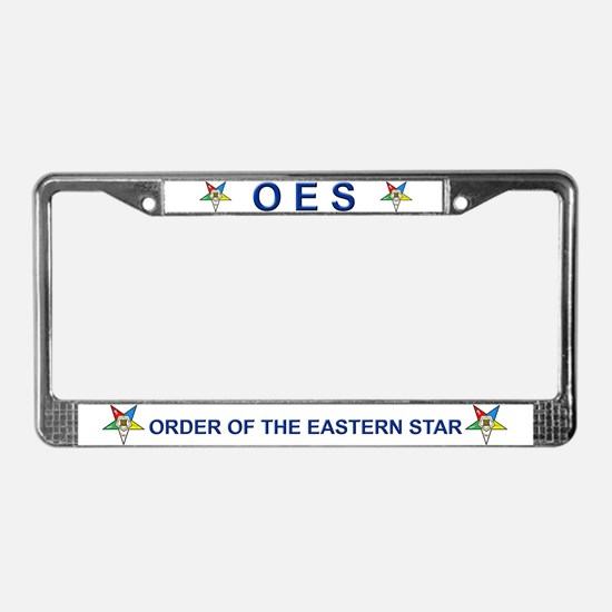 OES License Plate Frame