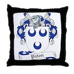 Paton Family Crest Throw Pillow