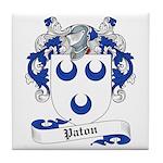 Paton Family Crest Tile Coaster