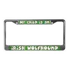 My Kid Irish Wolfhound License Plate Frame