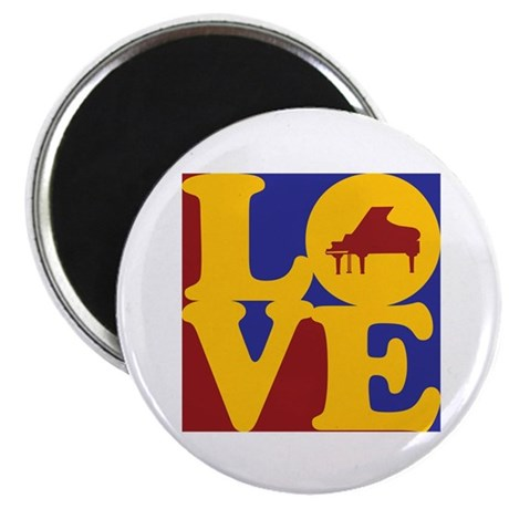 "Piano Love 2.25"" Magnet (100 pack)"
