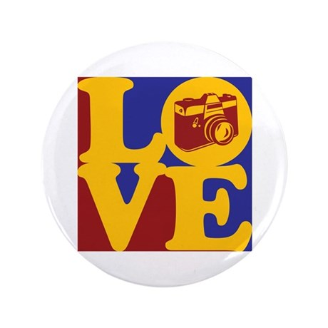 """Photography Love 3.5"""" Button"""