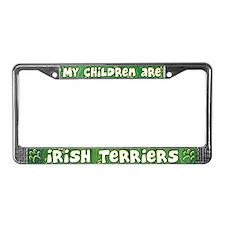 My Children Irish Terrier License Plate Frame
