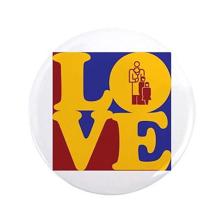 "Pediatrics Love 3.5"" Button (100 pack)"