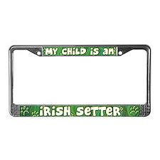 My Kid Irish Setter License Plate Frame