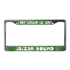 My Kid Ibizan Hound License Plate Frame