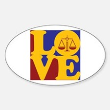 Paralegal Work Love Oval Decal