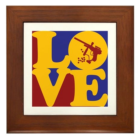 Paintball Love Framed Tile