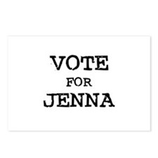 Vote for Jenna Postcards (Package of 8)
