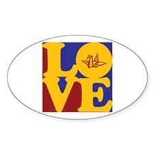 Origami Love Oval Decal