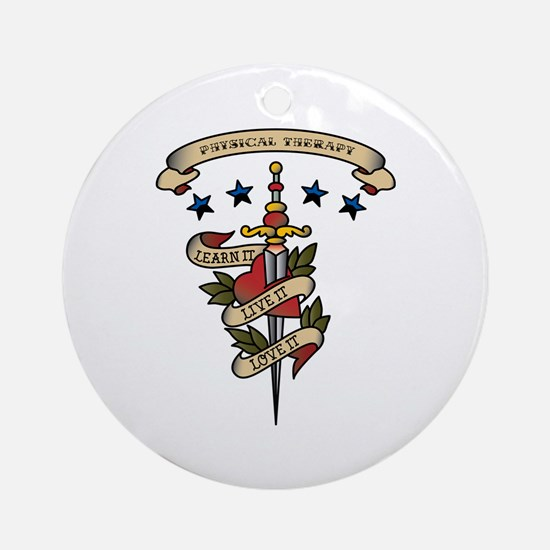 Love Physical Therapy Ornament (Round)