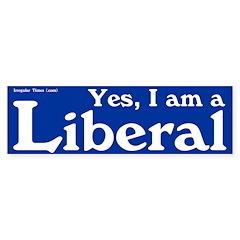 Blue I am a Liberal bumper sticker