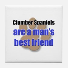 Clumber Spaniels man's best friend Tile Coaster