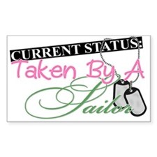 Taken By A Sailor Rectangle Decal
