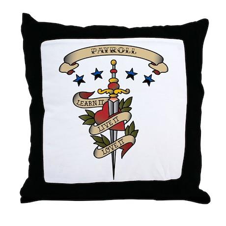Love Payroll Throw Pillow