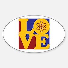 Nuclear Medicine Love Oval Decal
