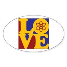 Nuclear Engineering Love Oval Decal