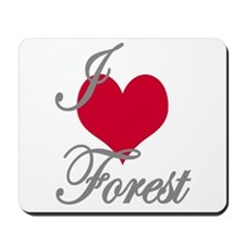 I love (heart) Forest Mousepad