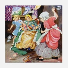 ALICE, THE DUCHESS & THE PIG BABY Tile Coaster