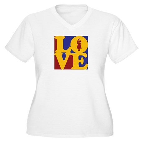 Midwifery Love Women's Plus Size V-Neck T-Shirt