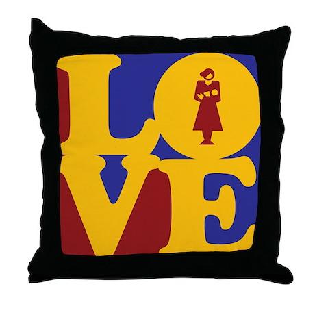 Midwifery Love Throw Pillow