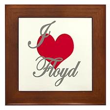 I love (heart) Floyd Framed Tile