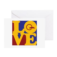 Meteorology Love Greeting Cards (Pk of 20)