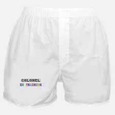 Colonel In Training Boxer Shorts