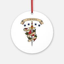 Love Nursing Ornament (Round)