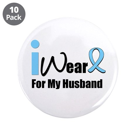 """Prostate Cancer 3.5"""" Button (10 pack)"""